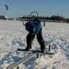 Snowkiting in Latvia