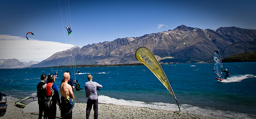 2010 Southern Lakes Windriders Club' downwinder from Glenorchy to Pigeon Island.