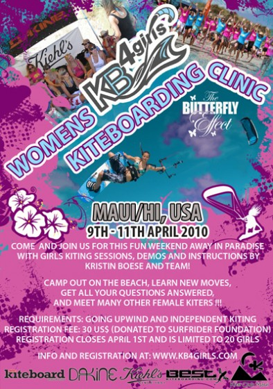 KB4girls 2010 World Tour teams up with the Butterfly Effect for event on Maui/Hawaii
