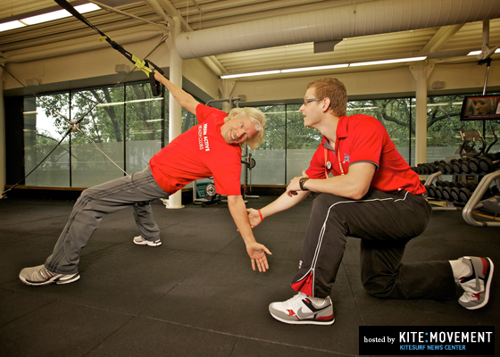 Sir Richard Branson trains at Virgin Active