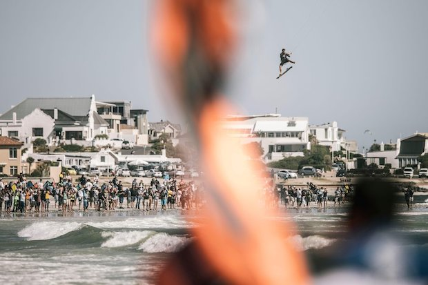 Nick Jacobsen performs during the Red Bull King Of The Air at Big Bay, South Africa on February 2, 2017