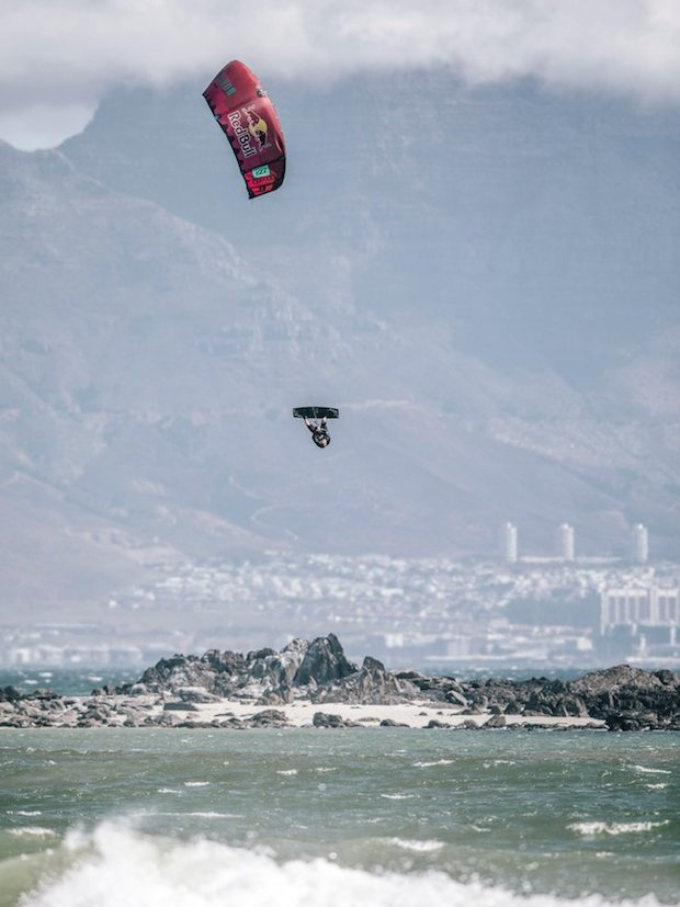 Ruben Lenten performs during the Red Bull King Of The Air at Big Bay, South Africa on February 2, 2017